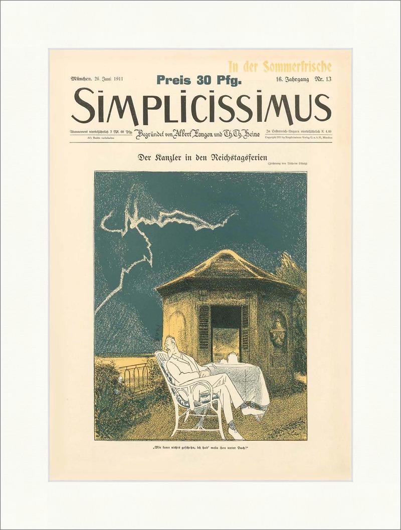 Titelseite der Nummer 13 von 1911 Wilhelm Schulz Kanzler ...