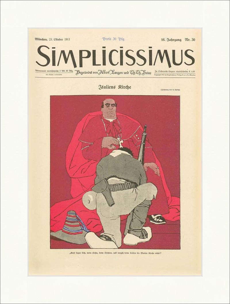 Titelseite der Nummer 30 von 1911 Eduard Thöny Kirche Italia ...