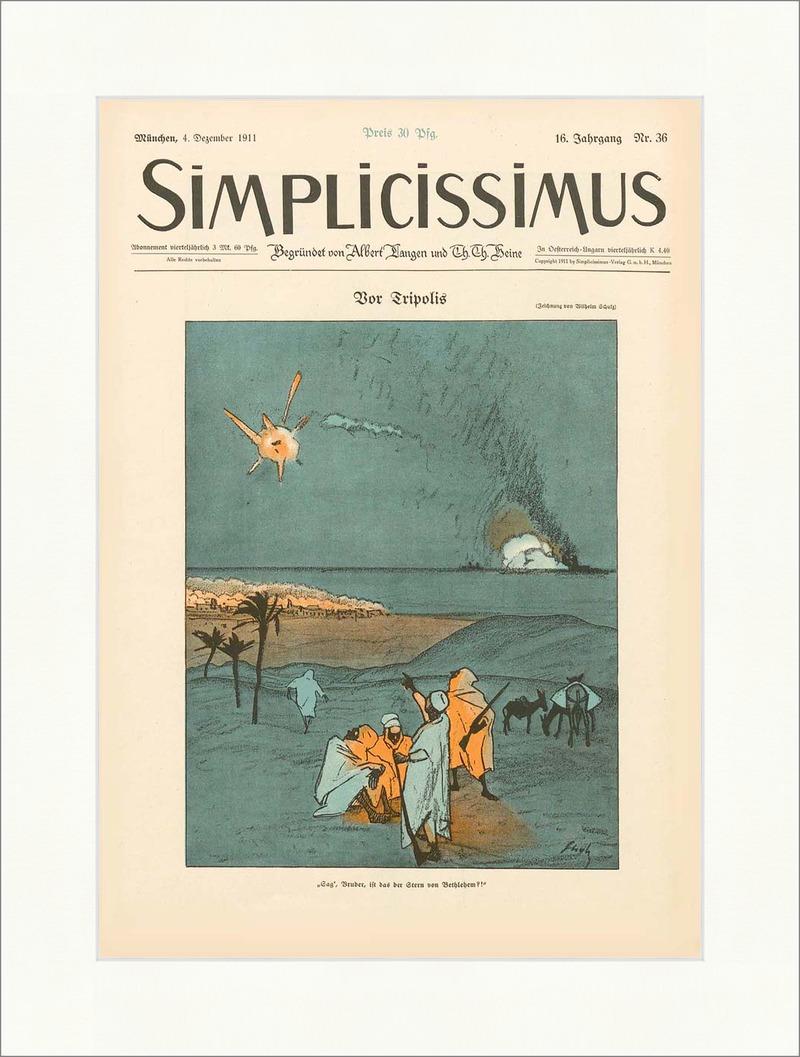Titelseite der Nummer 36 von 1911 Wilhelm Schulz Tripolis ...