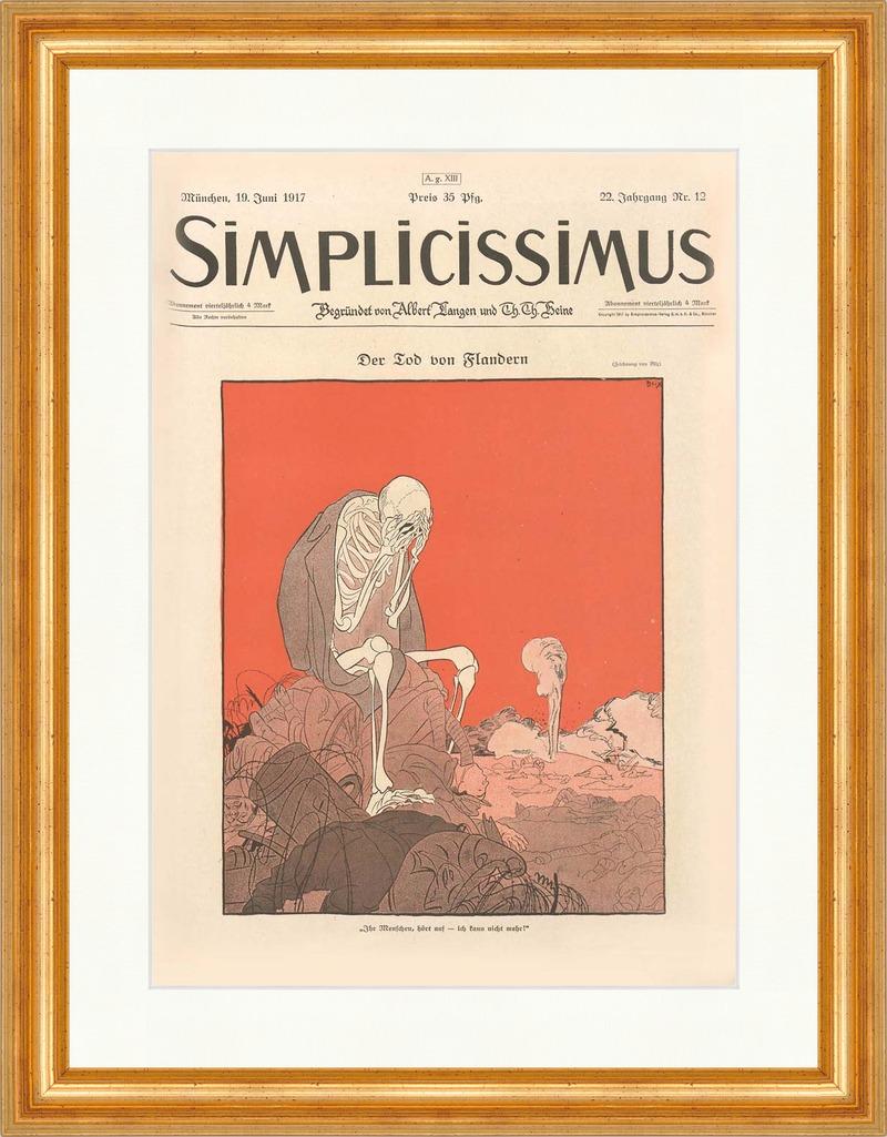 Titelseite der Nummer 12 von 1917 Ragnvald Blix Tod Flandern ...