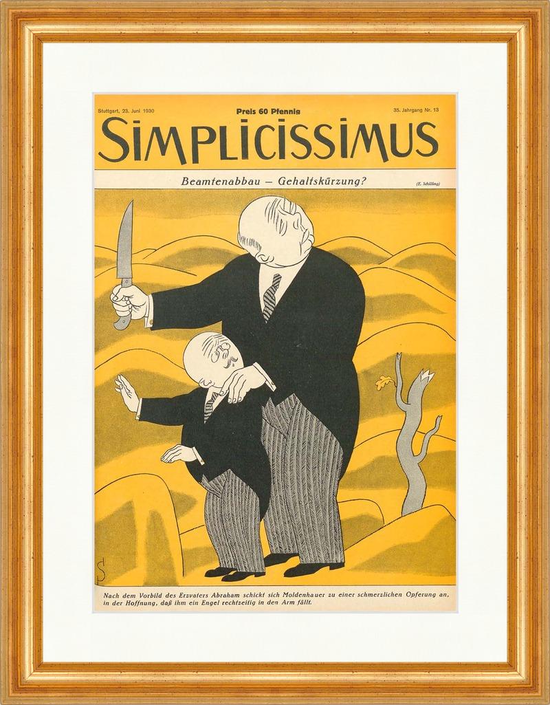 Titelseite der Nummer 22 von 1930 Erich Schilling Justitia Simplicissimus 1814