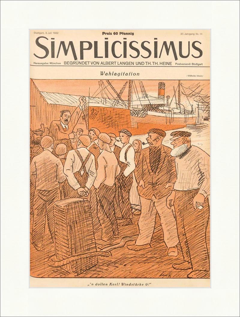 Titelseite der Nummer 14 von 1932 Wilhelm Schulz Schiff ...