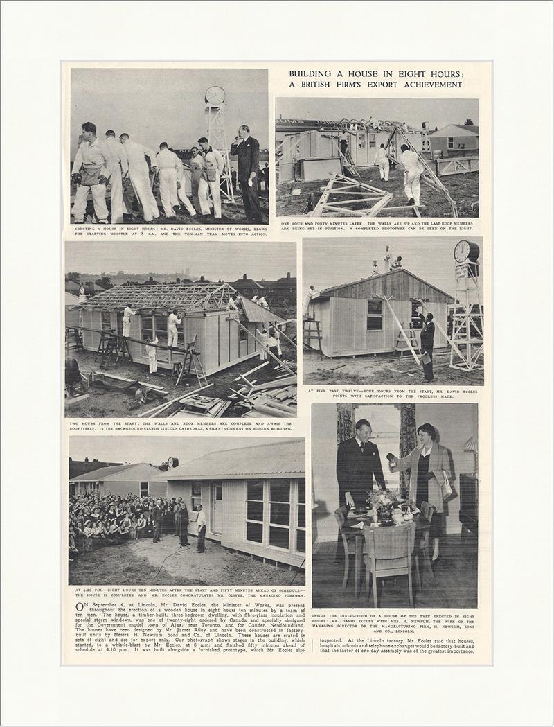 Building a House England Leistung Holz Dach Rekord Eccles Newsum The ...